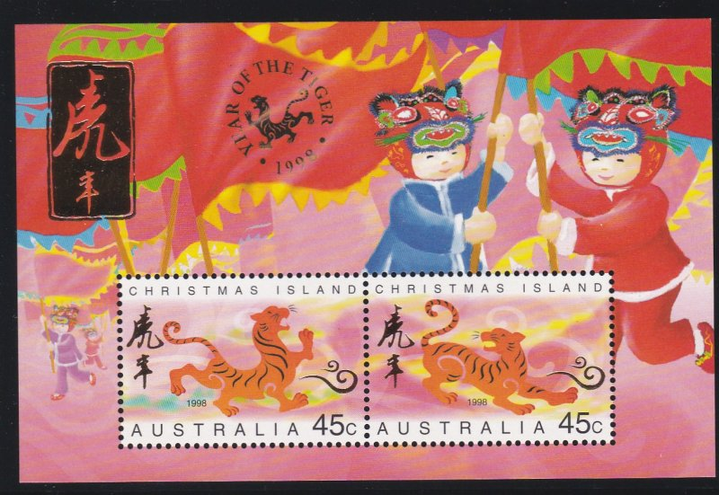 Christmas Island #  411b, New Year - Year of the Tiger, 1/2 Cat.