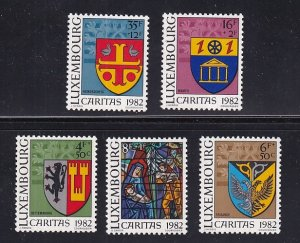 Luxembourg   #B337-B341        MNH   1982  arms