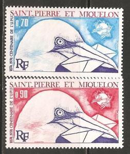 St Pierre & Miquelon SC 432-3 MNH