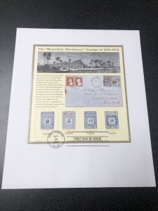 US 3694 Hawaiian Missionary Stamp First Day Of Issue Souvenir Sheet 2002
