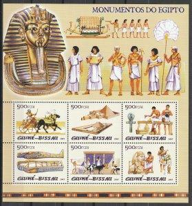 Guinea-Bissau MNH S/S Egyptian Civilization 2001