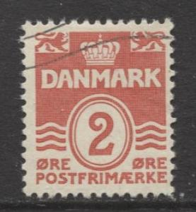 Denmark - Scott 221 - Definitive Issue -1933 - Used - Single 2o Stamp