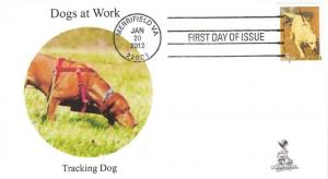Dogs at Work First Day Cover, w/ 4-bar cancel,  #4