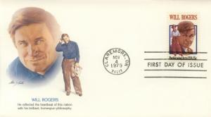 1979 Will Rogers (Scott 1801) Fleetwood FDC
