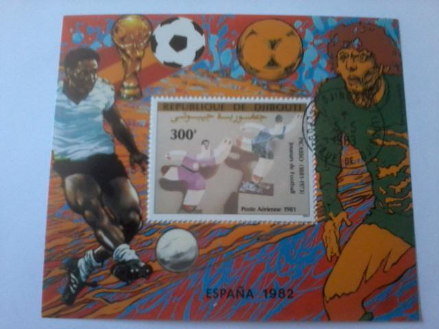 DJIBOUTI SHEET USED SPORTS FOOTBALL SOCCER WORLD CUP