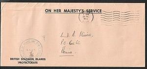 SOLOMON IS 1975 OHMS local cover ex Ministry of Works......................75630