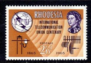 RHODESIA     ..1965   I.T.U  issue  sg353    2/ 6d   VLMM