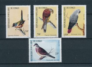 [102968] Congo Brazzaville 1990 Birds vögel oiseaux dove parrot  MNH