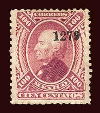 MEXICO Scott #111 1874 Miguel Hidalgo y Costilla without district name unused HR
