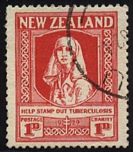 NEW ZEALAND 1929 Health Nurse fine used....................................20587
