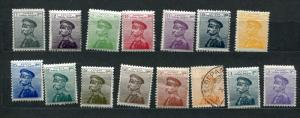 Serbia 1911 Accumulation MNH/MH (1 Stamp Is Used)  King Peter I  CV 100 Euro