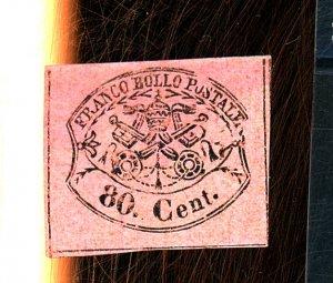 Italy Roman States #18 MINT F-VF OG HR Thin Cat $200