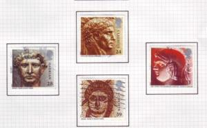 Great Britain  Sc 1502-5 1993 Roman Artifacts stamps used
