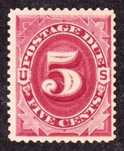 US J25 5c Postage Due Mint VF OG H SCV $110 (001)