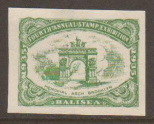 BALISEA Stamp Exposition Poster Stamp 1935