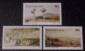 South Africa - Bophuthatswana Scott #177-179 mnh