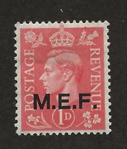 GREAT BRITAIN - MIDDLE EAST FORCES SC# 10  FVF/MOG 1943