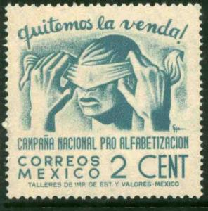 MEXICO 806, 2¢ Blindfold, Literacy Campaign UNUSED, H OG. VF.