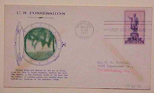 HAWAII FDC 1937  #799- 68 CACHET