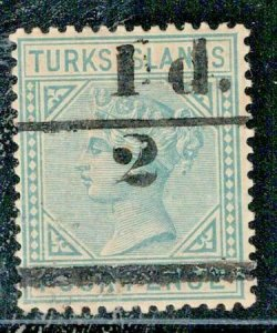 Turks Island 1893 SC 56 Signed Mint SCV $225.00