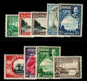 BERMUDA SG98-106, 1936-47 COMPLETE SET, M MINT. Cat £32.