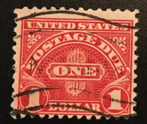 J77 Postage Due $1, 11 perf., single,  Vic's Stamp Stash