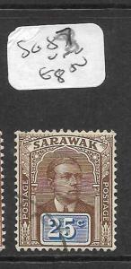 SARAWAK (P3101B) BROOKE 25C  SG 87  VFU