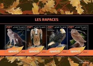 Z08 IMPERF DJB190605a Djibouti 2019 Birds of Prey MNH ** Postfrisch