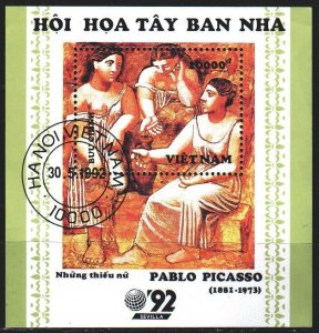 Vietnam. 1992. bl100. Picasso painting. USED.