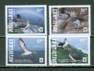 AITUTAKI 2016 BIRDS #648-51...SET MNH...$10.00