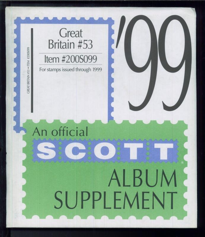 1999 Great Britain #53 Scott Stamp Album Supplement Pages Item #200S099
