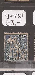 French Colonies Y&T 51 VFU (9cef)