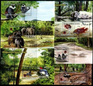 HERRICKSTAMP NEW ISSUES SRI LANKA Wasgamuwa Nat'l Park Souvenir Sheets