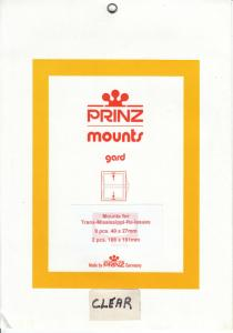 PRINZ CLEAR MOUNTS TRANS MISSISSIPPI (11) RETAIL PRICE $6.00