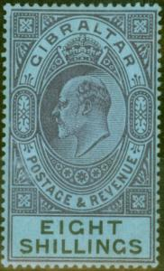 Gibraltar 1903 8s Dull Purple & Black-Blue SG54 Fine & Fresh Lightly Mtd Mint (5