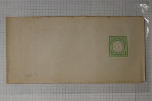 Germany Postal newspaper magazine wrapper 1873 hg#1 1/3gr green mint DC