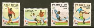Burkina Faso #1074-7 1998 France World Cup Soccer Championships (Upper Volta)