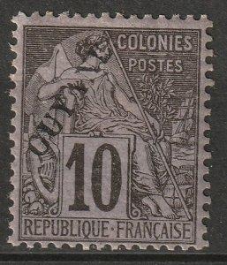 French Guiana 1892 Sc 22 MH*