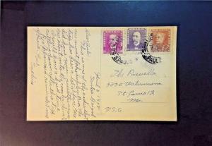 Brazil 1938 Postcard to USA - Z783