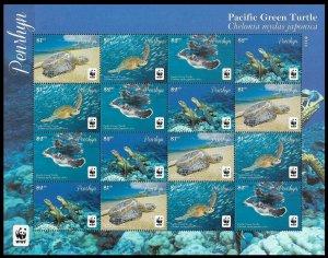 2014 Penrhyn Island 761-764KL WWF / Sea fauna 50,00 €