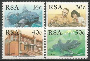 SOUTH AFRICA, 1989, MNH Complete set, Coelacanth Scott 762-765