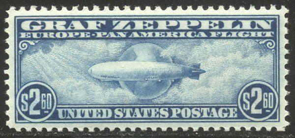 U.S. #C15 Mint SUPERB NH w/Cert - 1930 $2.60 Graf Zeppelin
