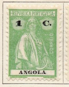 Angola 1922 Early Ceres  Issue Fine Mint Hinged 1c. 139705