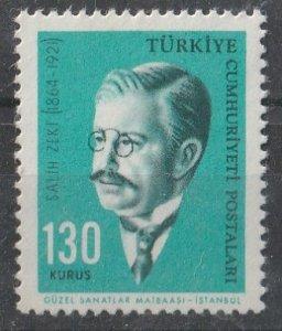 Turkey 1964 Turkish Famous People 130k (1/7) MNH