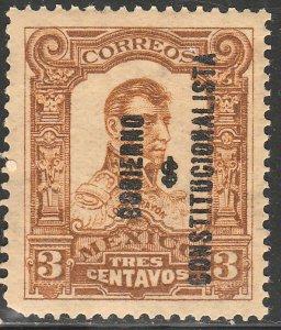 MEXICO 425, 3¢ GOBIERNO... REVOLUTIONARY OVPT. MINT, NH. VF.