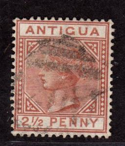 $Antigua Sc#13 used, F-VF, CV. $67.50