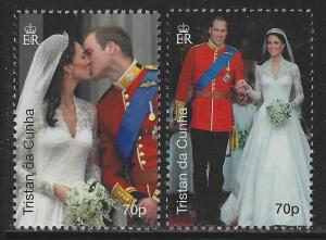 Tristan da Cunha 2011 Royal Wedding set Sc# 952-55 NH