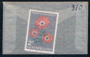 Luxembourg 310 Unused Anemones 1956 (L0303)