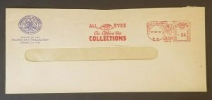 1952 Oromocto New Brunswick Canada Official Tax Collections Opticians Ad Cover