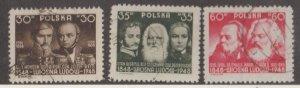 Poland Scott #430-431-432 Stamps - Used Set